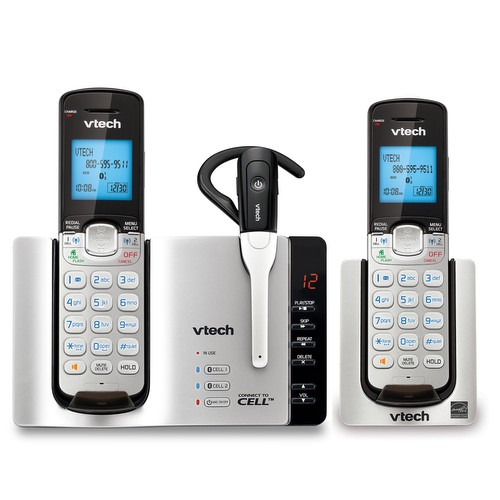 2 Handset Connect to Cell™ Answering System with Cordless