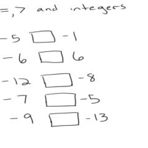 Greater than and less than signs with integer