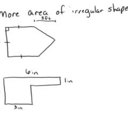 Area Irregular Shpaes