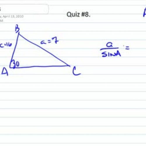 Law of Sines-Ambiguous Case