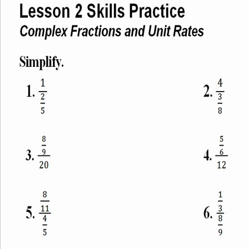Complex Fractions Practice