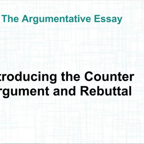 Counterclaims and Rebuttals