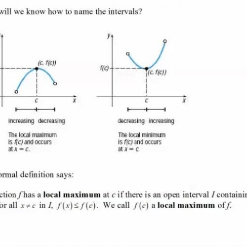 Definition of maximum and minimum 3.3