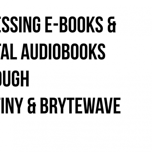 Brytewave and Destiny for ebooks and digital audiobooks