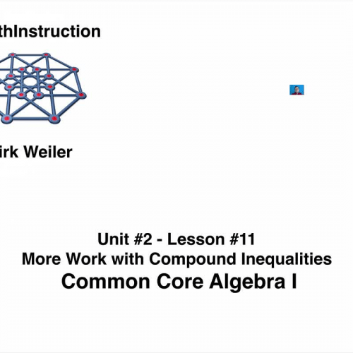 Common Core Algebra I.Unit 2.Lesson 11.More Work with