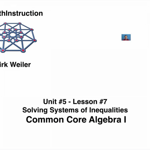 Common Core Algebra I.Unit 5.Lesson 7.Solving Systems of
