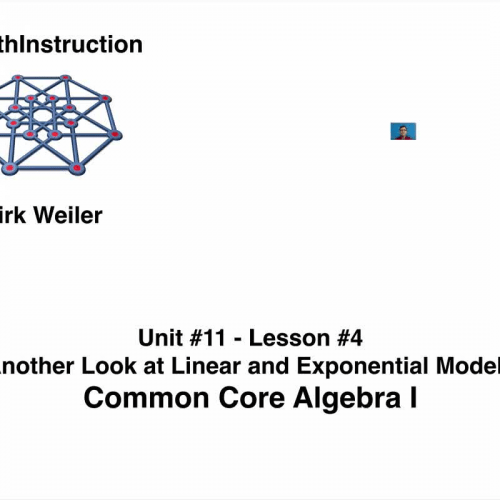 Common Core Algebra I.Unit 11.Lesson 4.Another Looks at