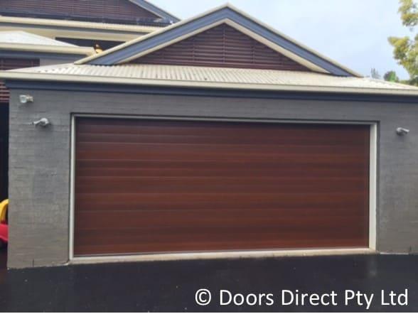 Sectional Garage Doors  Timber Look  Doors Direct