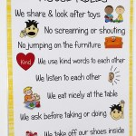 Happy Learners A4 House Rules Poster Sign Educational Nursery Sen Children Kids Childminders By Kids2learn Shop Online For Toys In New Zealand
