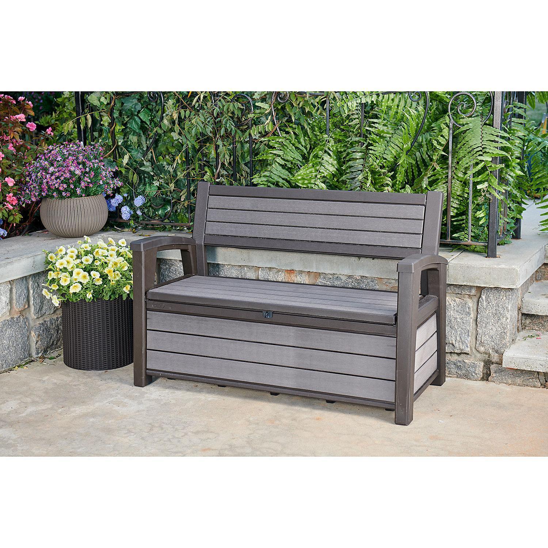 keter hudson plastic storage bench 227