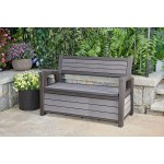 Keter Hudson Plastic Storage Bench 227 1l Deck Box By Keter Shop Online For Homeware In New Zealand