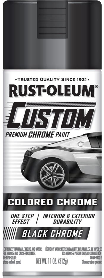 Black Chrome Car Paint : black, chrome, paint, Rust-Oleum, Custom, Coloured, Chrome, Automotive, Spray, Paint, Black, Chrome,, 300ml, Online, Lifestyle, Zealand