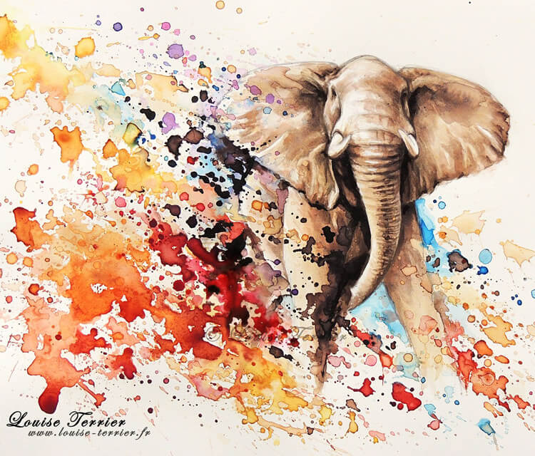 elephant painting by louise