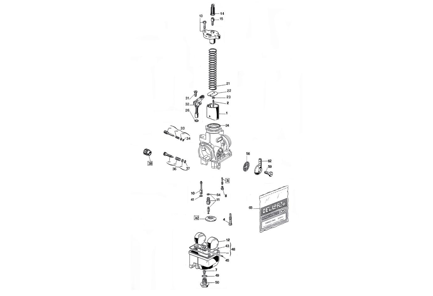 Piezas de recambio Piezas Carburador Dell'orto PHBH 28 BS