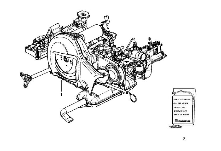Motor Piaggio Ape Classic MP601 E2 2006-2013 (EMEA