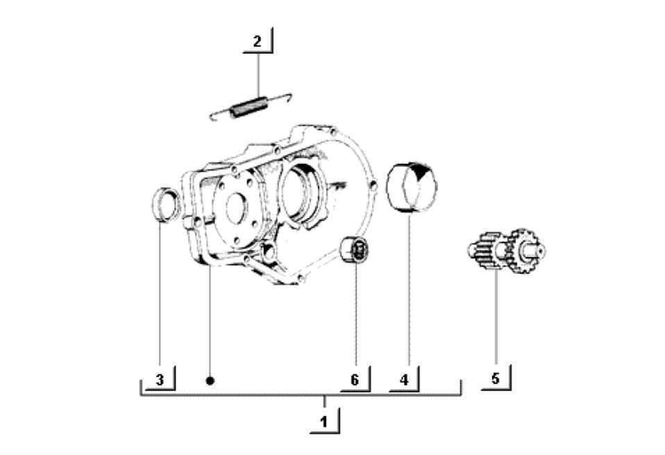 Differentialgehäuse Piaggio Ape Mix 50 2T E1 1998-2008