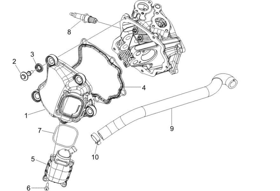 Zylinderkopfhaube Piaggio Carnaby 125 E3 2007-2010 (EMEA