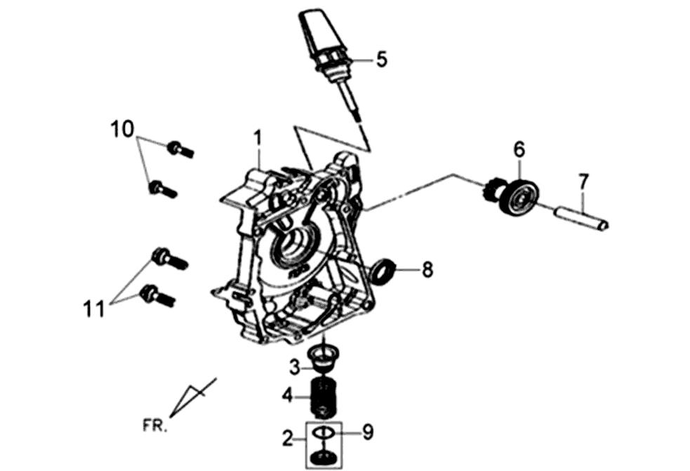 Semicarter destro Sym Fiddle II 50 4T (New Engine) E3 2010