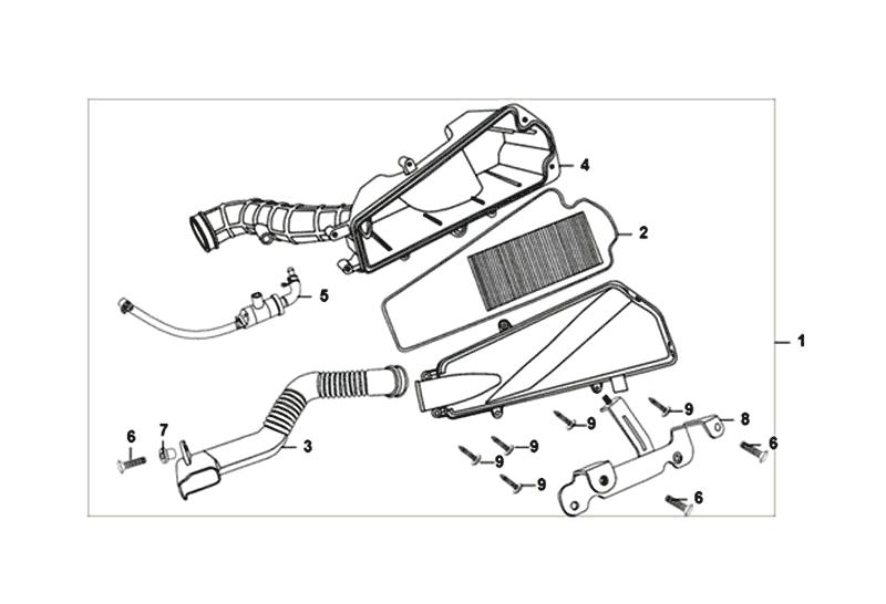 Luchtfilter Sym Fiddle II 50 4T E4 2018-2020 (EU