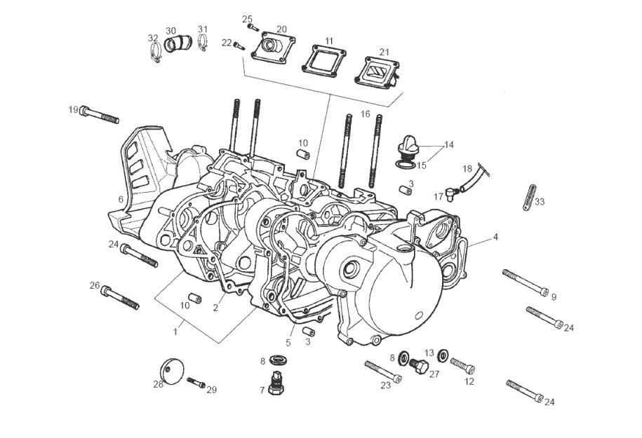 Onderdelen Derbi GPR 50 2T Replica Pesek E2 2007 (EMEA