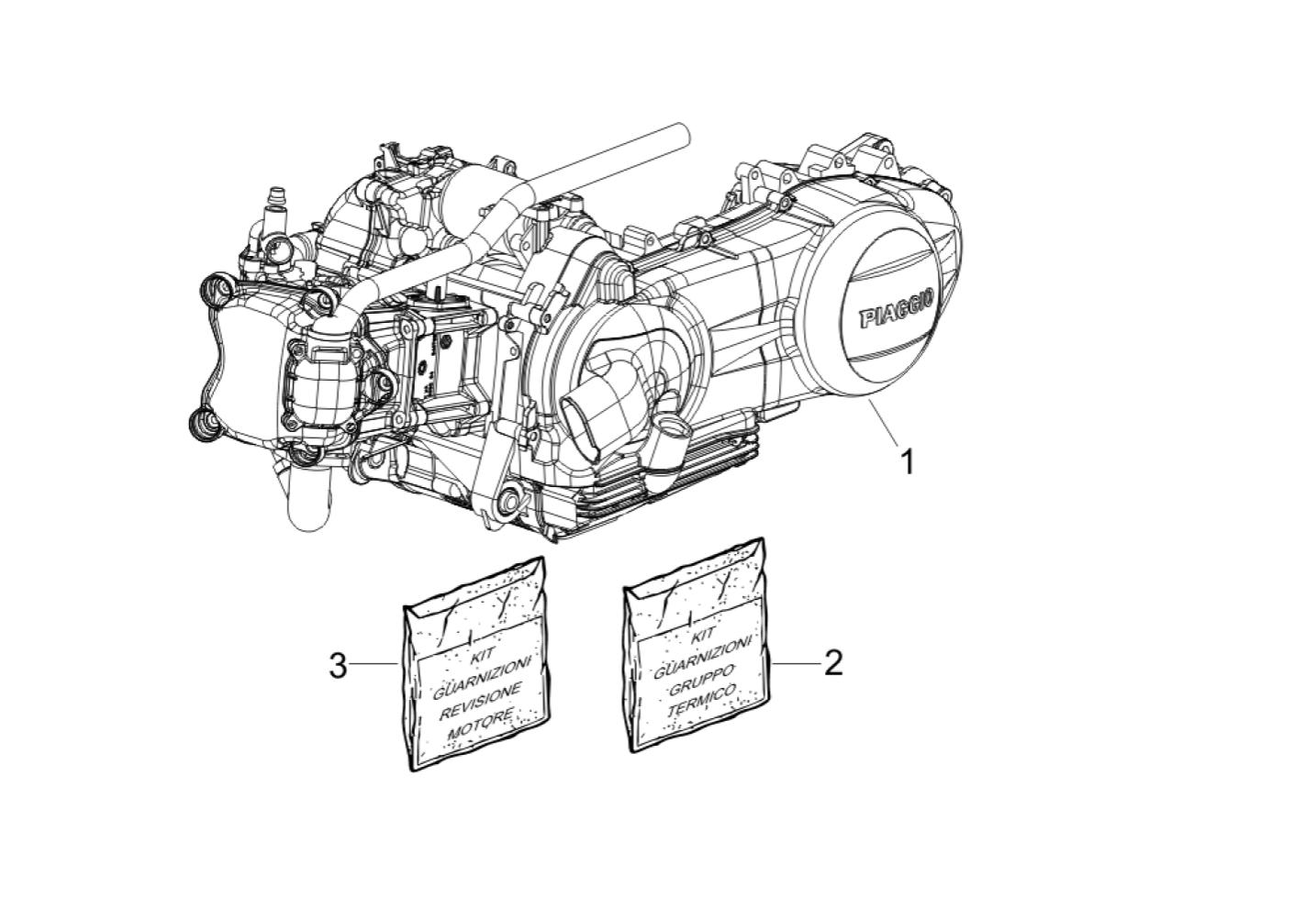 Motore Vespa GTS 300 IE Super E3 2008-2016 (APAC/EMEA