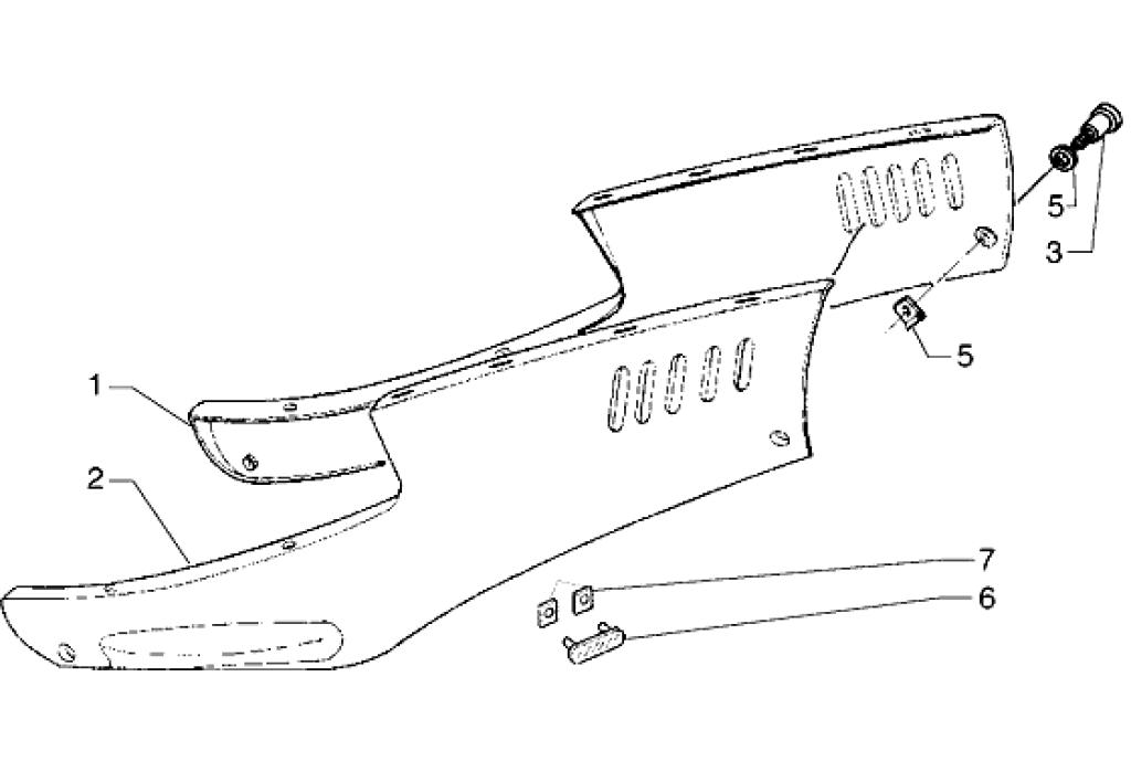 Seitenverkleidung Piaggio Hexagon 125 GTX E1 2000 (EMEA