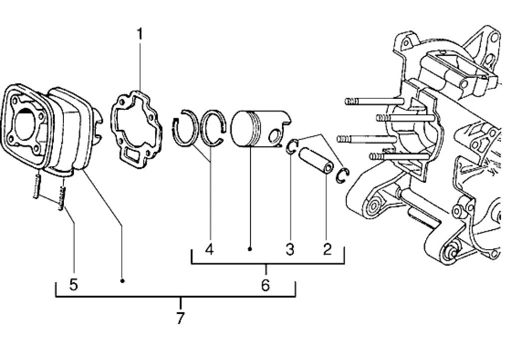 Ersatzteile Piaggio NRG 50 2T 1994-1996 (EMEA) Zylinder