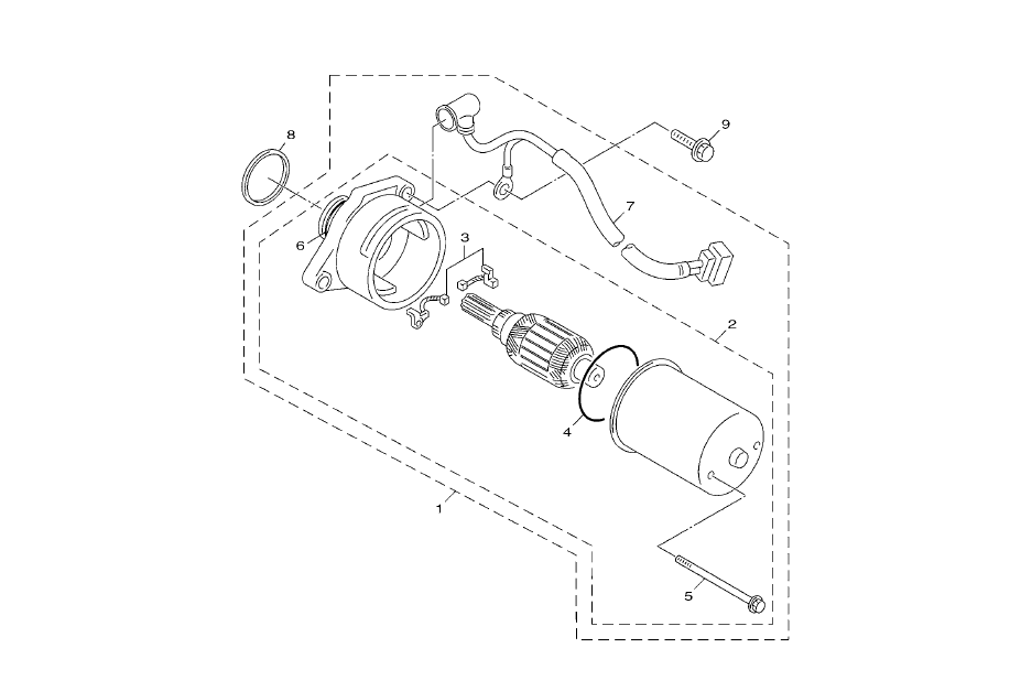 Startmotor Yamaha Neo's 50 4T La Poste (FR) 2015