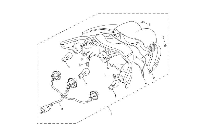 Achterlicht Yamaha Neo's 50 4T La Poste (FR) 2015