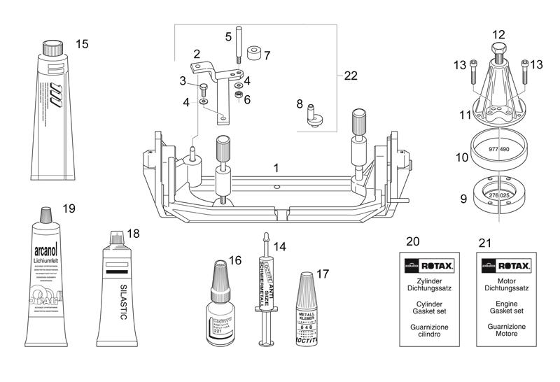 Werkzeug Reparatur (II) Aprilia RS 125 2T (Eng.123) 1996