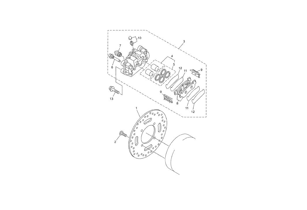 Onderdelen Yamaha X-Max 250 2013 Remklauw achter