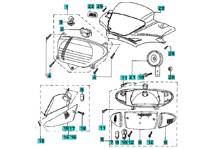 Onderdelen Peugeot Zenith M 50 2T BN 1997 Lighting