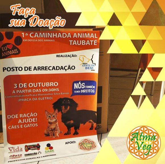 postos-de-coleta-ração-taubaté-caminhada-animal-atma-veg-avenida-nove-julho-adoção-animais