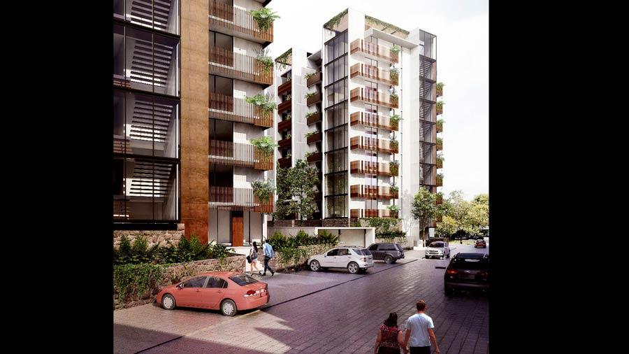 Cuatro edificios de apartamentos se suman al complejo