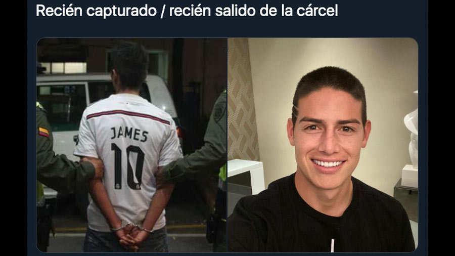 Lea aquí todas las noticias sobre james rodriguez hoy: James Rodríguez comparte su nuevo corte de cabello y sus