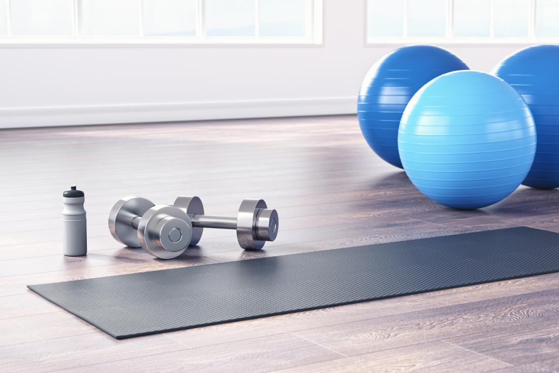 yoga balls and weights
