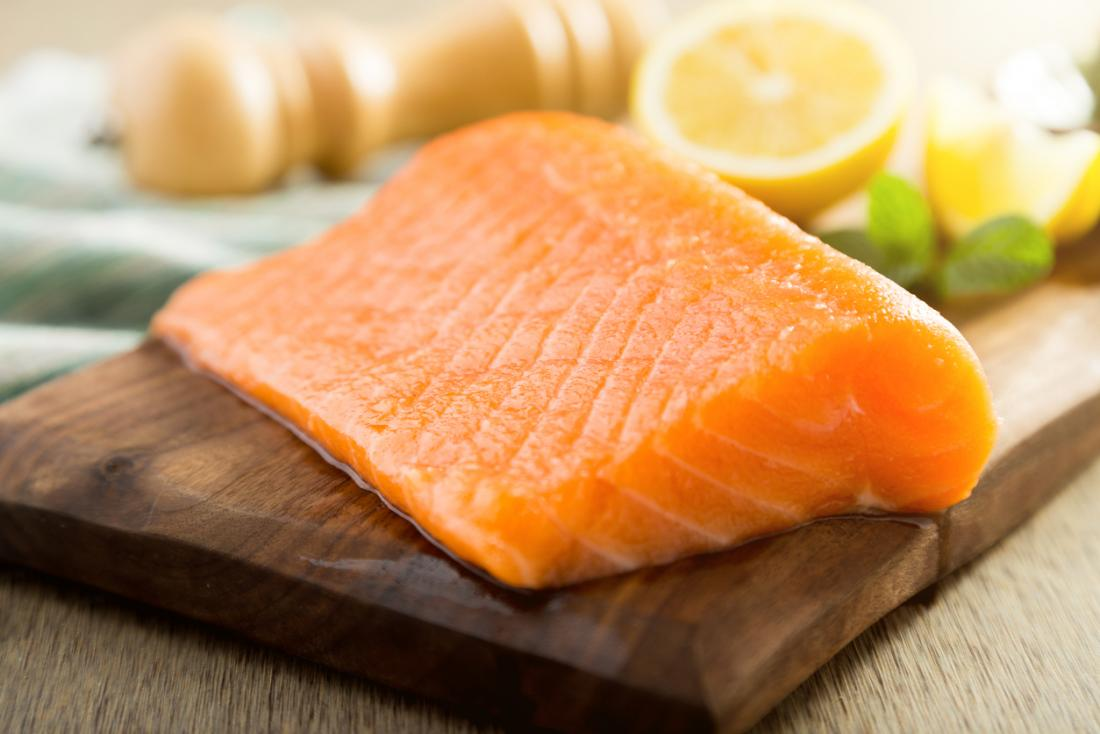 a piece of salmon