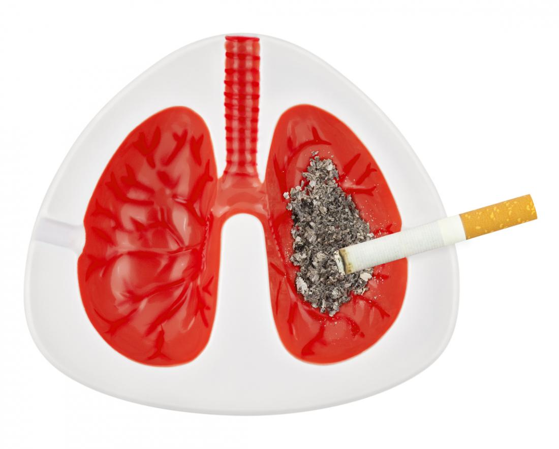Lungs as ash tray