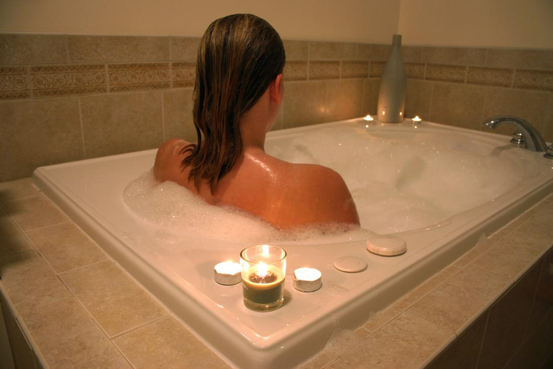 A hot bath can provide comfort and relief from some types of pain.