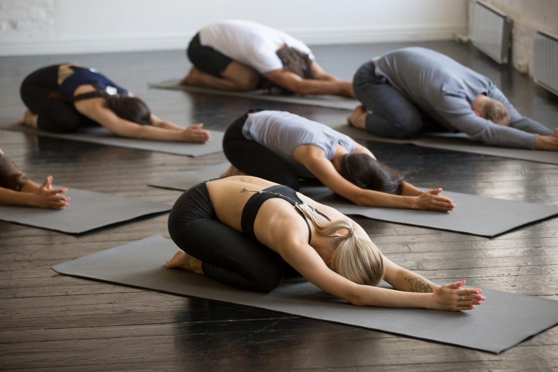 group in yoga pose