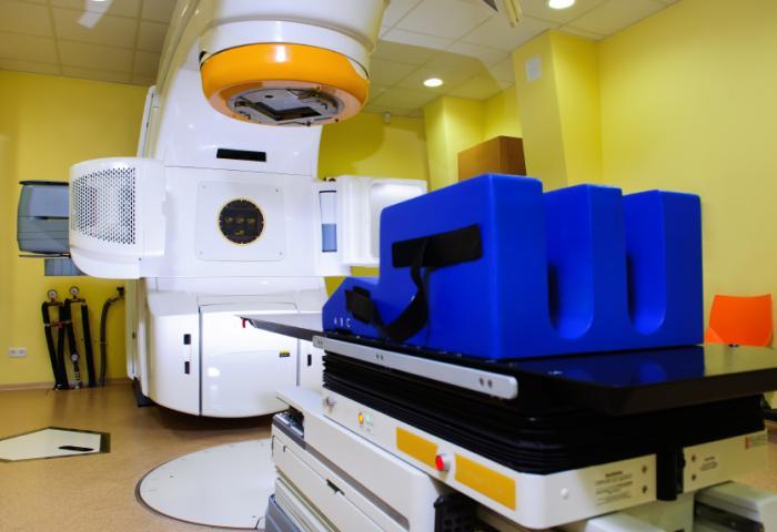 Radiotherapy machine.