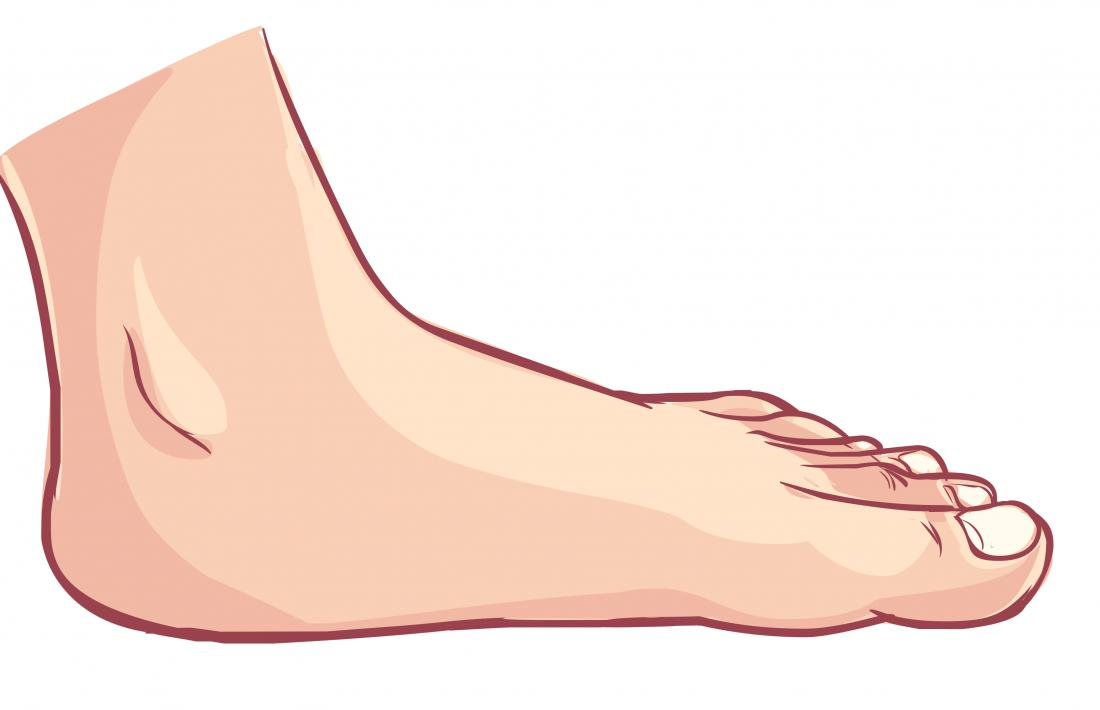 flat feet illustration