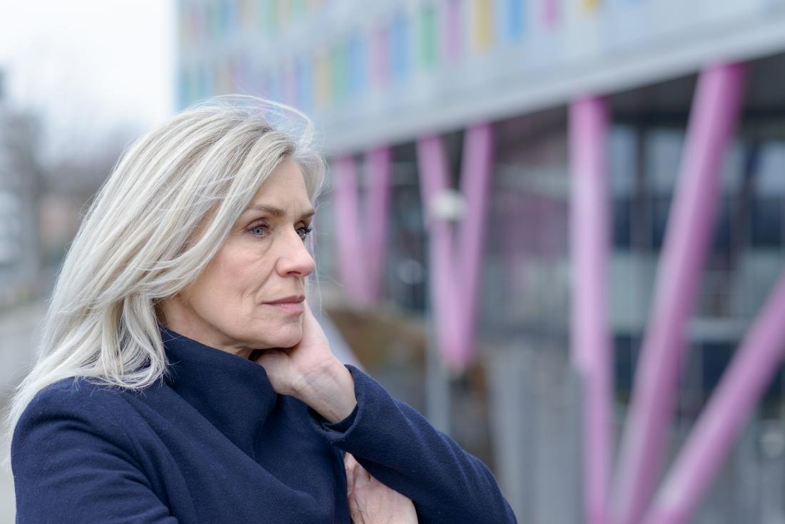 a woman looking pensive because she has vaginal cancer