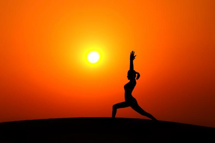 [Yoga at sunset]