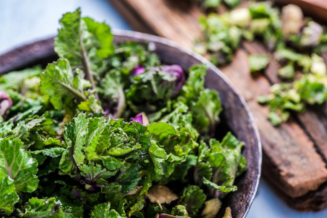Kale and other cruciferous vegetables are good sources of vitamin K.
