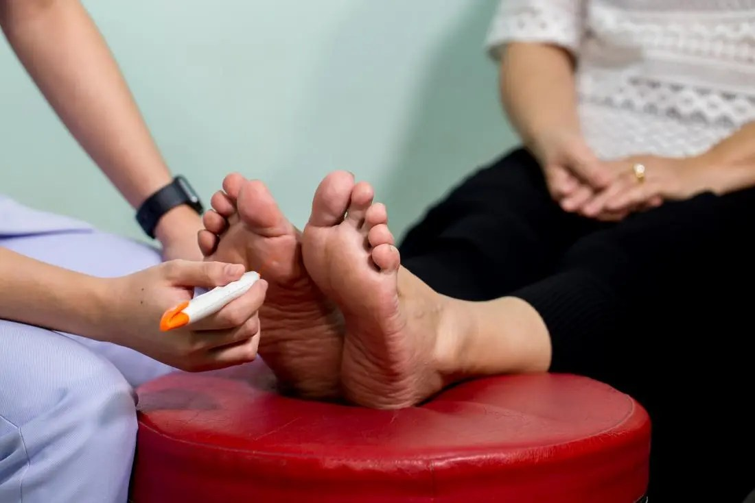 Foot test for peripheral neuropathy
