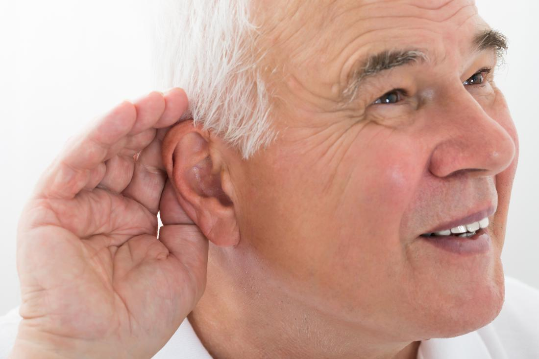 hearing loss man