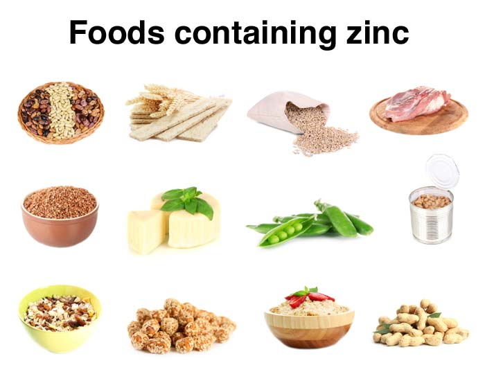Images of foods containing zinc