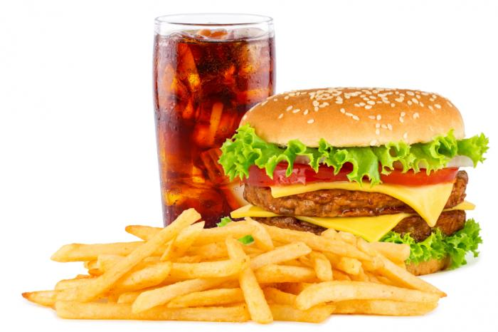 burger fries and coke