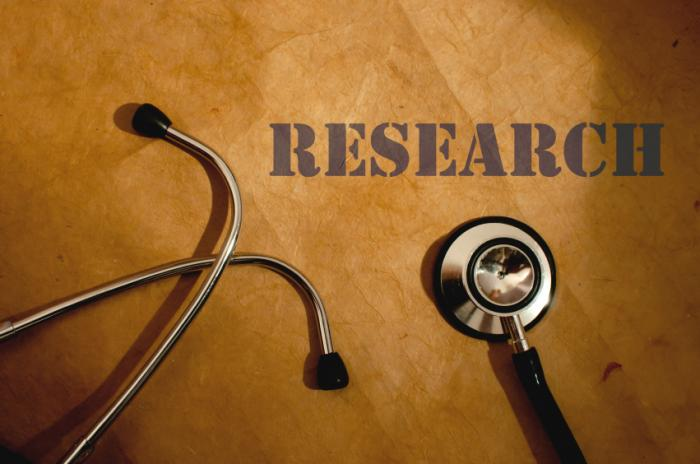 stethoscope and the word research